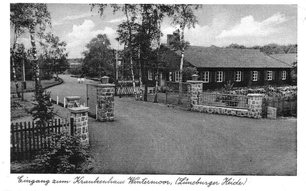 19520000_Ansichtskarte Eingang zum Krankenhaus Wintermoor - Verlag Rud. Reher Hamburg