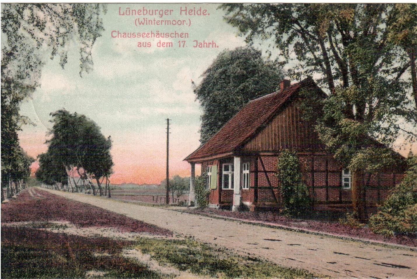 Ansichtskarte Chausseehaus Wintermoor gelaufen 1910 Verlag von Kumm 667