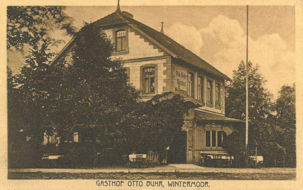 Ansichtskarte Gasthof Otto Buhr Wintermoor, gelaufen 1923