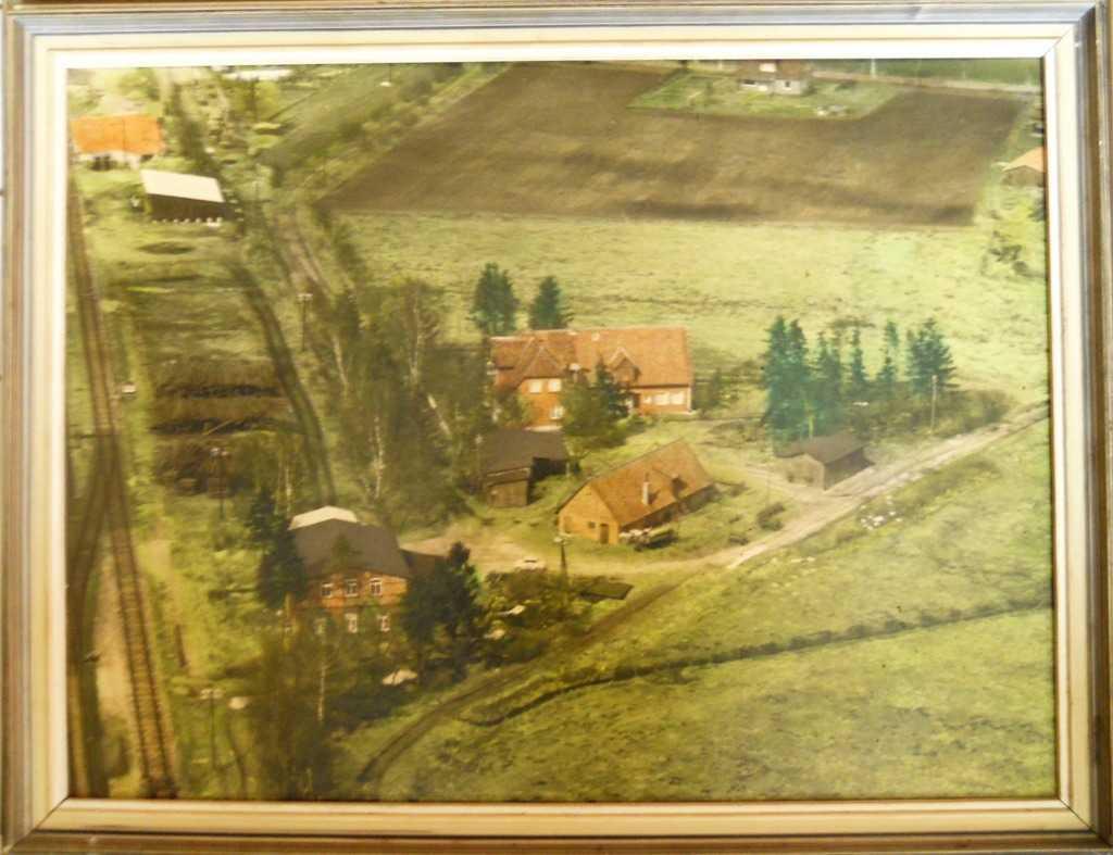 Blanks Mühle in Wintermoor -Luftbild um 1960