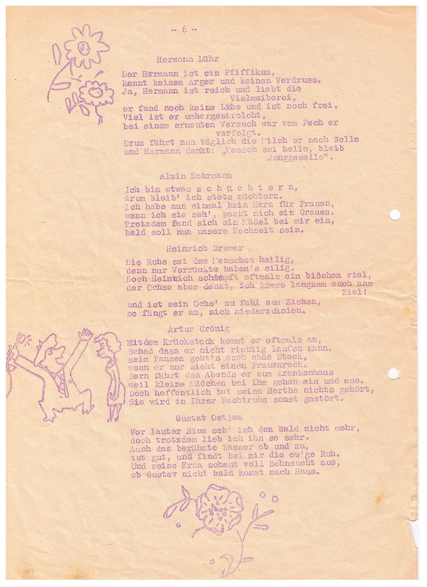 Festschrift Kameradschaftsabend Von Gut Ziel 1951, Seite 1