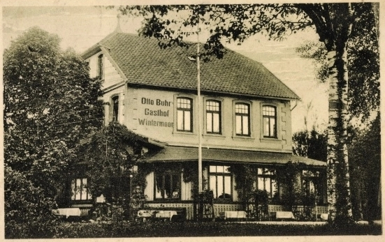 Gasthof Otto Buhr Wintermoor - Ansichtskarte undatiert etwa 1930er Jahre