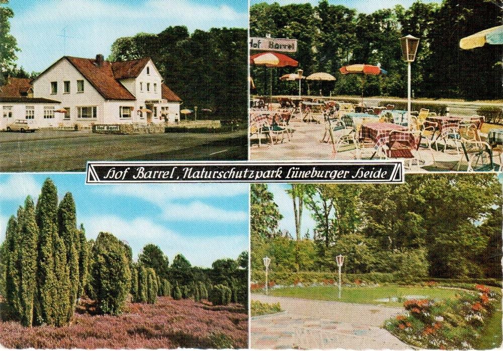 Hof Barrl auf Ansichtskarte 18 von Rud. Reher, mit falsch-korrigierter Schreibweise Barrel, etwa 1970