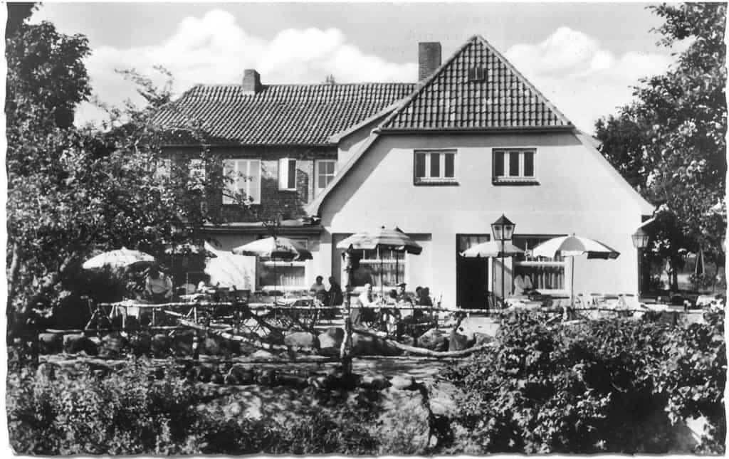 Hotel Buhr Wintermoor - Terrasse - Ansichtskarte 19a Verlag Rud. Reher undatiert