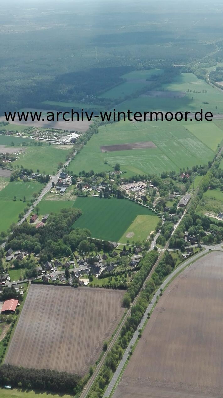 Luftbild Bundesstraße Und Heidebahn Sind Fast Parallel In Wintermoor Mai 2017 Web