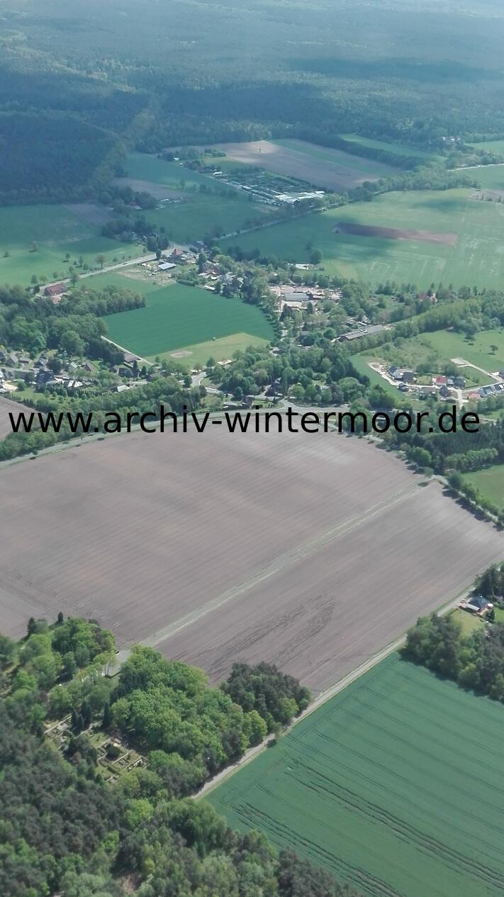 Luftbild Friedhof Wintermoor Und Kreuzung Lange Straße Im Mai 2017 Web