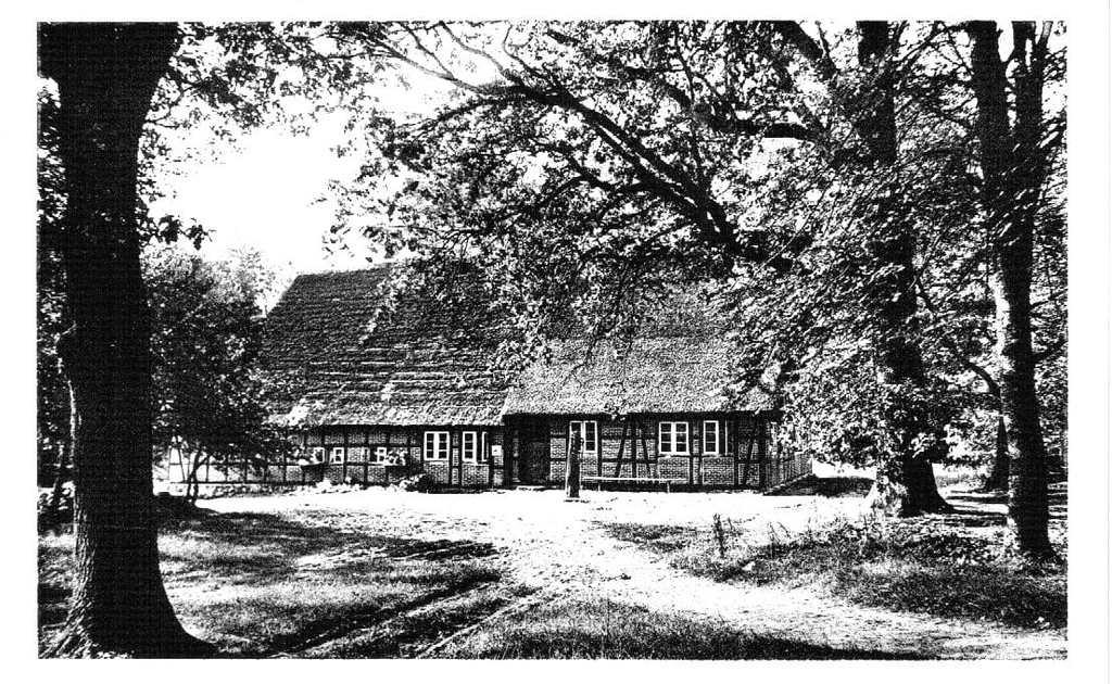 Pension Schröder in Einem auf einer Ansichtskarte von Rud. Reher um 1958