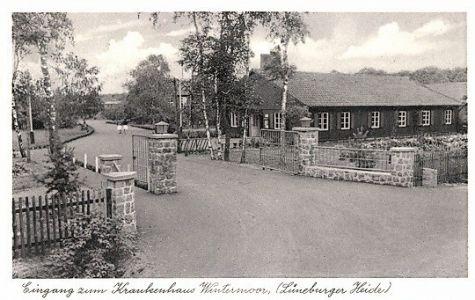 1952_Wintermoor_Ansichtskarte Endoklink Eingang