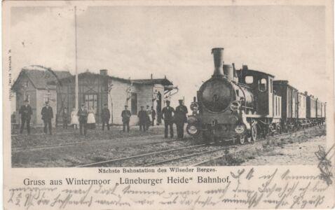 Ansichtskarte Bahnhof Wintermoor zwischen 1902 und 1905