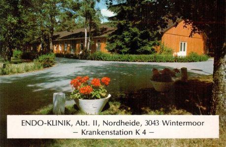 ENDO-Klinik Station K4 - Egon Manke Ansichtskarte um 1989