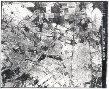 Luftbild Bahnhof Wintermoor am 23.12.1944, aufgenommen vom 140 Squadron RAF, Bild 4012, 140-1345, Crown Copyright