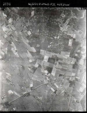 Luftbild von Wintermoor und Kamperheide am 9. April 1945, Nr. 3091, Bild NCAP ncap.org.uk