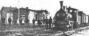 Der Bahnhof Wintermoor um 1910