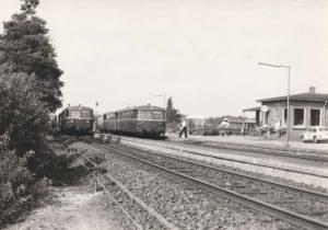 Bahnhof Wintermoor mit Schienenbus - Foto Dierk Lawrenz
