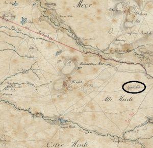 Eichenstrücken auf der Kurhannoversche Landesaufnahme von 1770