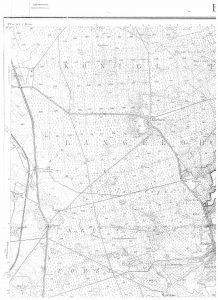 Karte Behringen 1378 von 1906 (Auszug). Quelle: Auszug aus den Geobasisdaten der Niedersächsischen Vermessungs- und Katasterverwaltung, © 2017 www.lgln.de