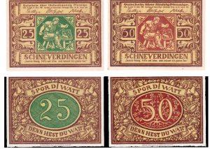 Notgeld aus Schneverdingen von 1921