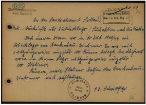 Brief vom 9.4.1949, Bürgermeister Ehrhorn, 2.2.0.1, 82427789, ITS Digital Archive Bad Arolsen