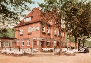 Ansichtskarte vom Hotel Heidehof, M. Ebeling, Wintermoor, ca. 1954, Thordsen-Verlag Hamburg