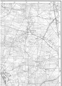 Wintermoor auf der TK25 von 1956, Quelle: Auszug aus den Geobasisdaten der Niedersächsischen Vermessungs- und Katasterverwaltung, www.lgln.de. © 2017
