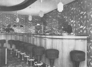 Sektbar im Dressler-Stübchen (um 1966), Bild aus Chronik 200 Jahre Colonie Wintermoor
