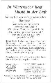 Anzeige ALLES Records aus 200 J Colonie Wintermoor