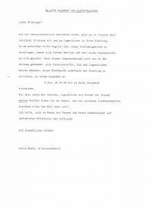 Brief an die Einwohner des Kiefernbuschs vom 1. Juni 1994
