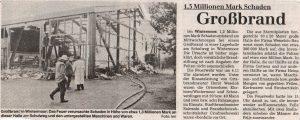 Böhme-Zeitung vom 15.12.1994: Großbrand in Wintermoor