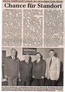 böhme-Zeitung vom 09.11.1998: Chance für Standort
