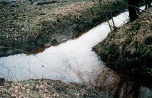 Zusammenfluss von Wümme und Graben A (1999)