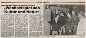 Mittwoch aktuell vom 17.2.1999: Wechselspiel von Kultur und Natur (im Walderlebniszentrum Ehrhorn)