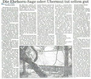 Die Ehrhorn-Sage oder: Übermut tut selten gut. In: Böhmezeitung vom 8.3.1999