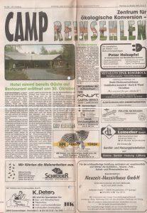 Böhme-Zeitung vom 19.10.1999: Camp Reinsehlen