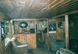 Wohnwagen von innen im August 2002
