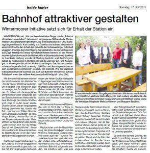 Heidekurier vom 17.07.2011, Seite 4: Bahnhof attraktiver gestalten