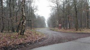 Weg von der Betonstraße zur Bohrung in Barrl, Januar 2017