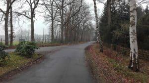 Am Sportplatz, Blick nach Norden im Januar 2017
