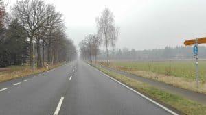 Bundesstraße 3 auf Höhe Schulweg Wintermoor, Blick nach Norden (2017)