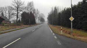 Bundesstraße 3 auf Höhe Schulweg Wintermoor, Blick nach Süden (2017)