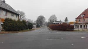 Blick von de B3 in die Poststraße, Januar 2017
