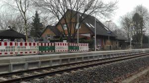 Bahnhof Wintermoor im Januar 2017