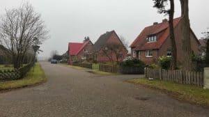 Kantweg in Wintermoor a.d.Ch. im Januar 2017