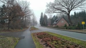 Lange Straße in Wintermoor im Januar 2017