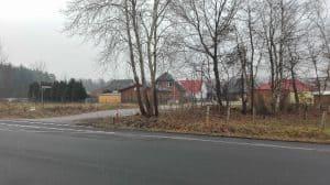 Blick vom Parkplatz bei Manke auf den Margarete-Baasch-Weg im Januar 2017