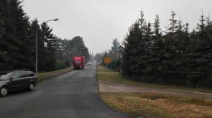 Schulweg in Wintermoor, Blick von der B3, im Januar 2017
