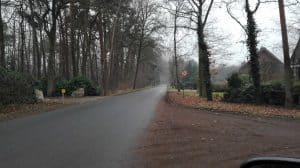 Wintermoorer Kirchweg an der Kreuzung Wintermoorer Straße im Januar 2017