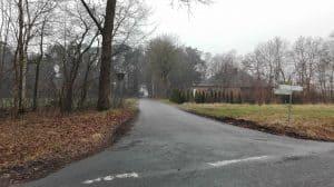 Flattweg von der Wintermoorer Straße aus im Januar 2017