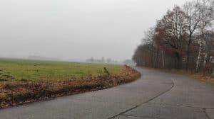 Wintermoorer Straße Kurve Betonstraße Blick nach Voßbarg 2017