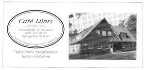 Anzeige Café Lührs