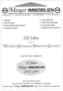 Anzeige Meyer Immobilien - aus 200 J Wintermoor-Geversdorf